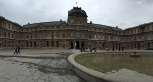 Panoramic of one part of Louvre from Interior Courtyard