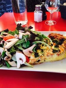Salmon Quiche and Salad