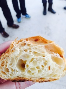 Interior of the Croissant. Look at all those layers of flaky goodness!