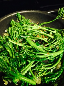 Broccolini with Shallots and Red Pepper Flakes