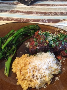 Braised Beef Ribs with Risotto alla Milanese and Broccolini